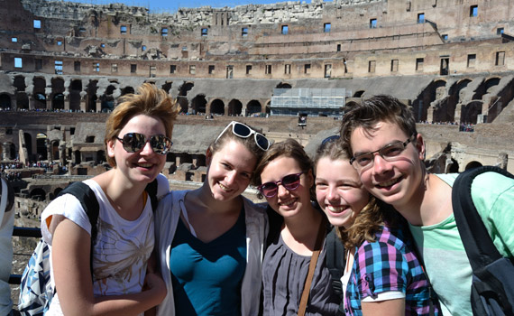 in het colosseum
